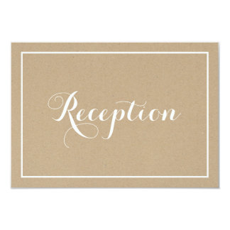 Rustic Vintage Typography Script Reception Card