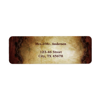 rustic vintage typography western country wedding label
