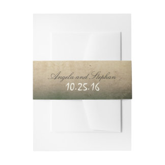 rustic vintage wedding invites belly bands invitation belly band