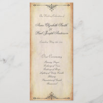 Rustic Vintage Wedding Program