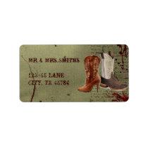 rustic vintage western country cowboy wedding label