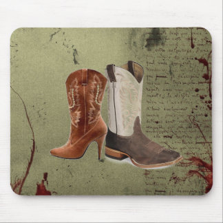 rustic vintage western country cowboy wedding mouse pad