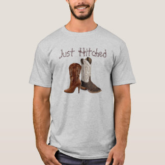 rustic vintage western country cowboy wedding T-Shirt