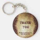 rustic vintage western country wedding favor basic round button keychain