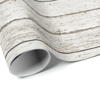 rustic vintage white barn wood barn wedding favor wrapping paper