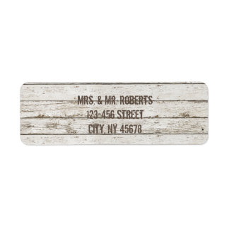 rustic  vintage white barn wood barn wedding label