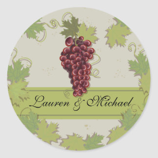 Rustic Vintage Winery Vineyard Stickers
