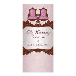 Rustic vintage wooden wedding program customized rack card