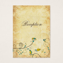 rustic vintage yellow floral  Reception Cards