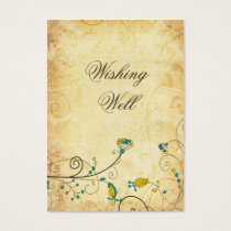 rustic vintage yellow floral  wishing well cards