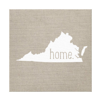 Rustic Virginia Home State Wrapped Canvas Art Stretched Canvas Print