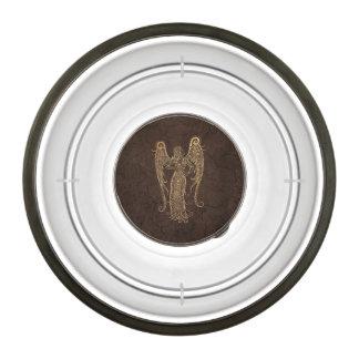 Rustic Virgo Zodiac Sign on Stone Effect Bowl