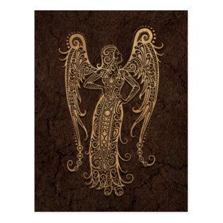 Rustic Virgo Zodiac Sign on Stone Effect Postcard