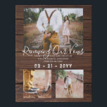 """Rustic Vow Renewal Anniversary Photo Gift Idea Faux Canvas Print<br><div class=""""desc"""">Add photos,  dates and names and a special greeting to this stylish rustic themed print. This makes a wonderful vow renewal or wedding anniversary gift.  __________________________________________________________________________ For assistance FOLLOW this store and contact designer via tab below.</div>"""