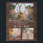 """Rustic Vow Renewal Anniversary Photo Gift Idea Faux Canvas Print<br><div class=""""desc"""">Add photos,  dates and names and a special greeting to this stylish rustic vow renewal themed print. This makes a wonderful vow renewal or wedding anniversary gift.  __________________________________________________________________________ For assistance FOLLOW this store and contact designer via tab below.</div>"""
