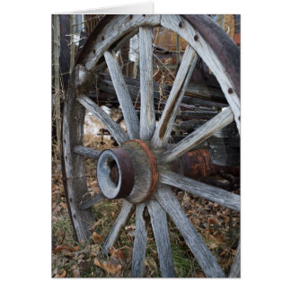 Rustic Wagon Wheel Card