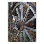 Rustic Wagon Wheel Greeting Card