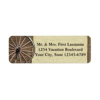 Rustic Wagon Wheel Label