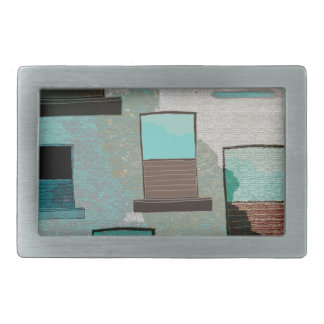 Rustic Wall and Windows Rectangular Belt Buckle