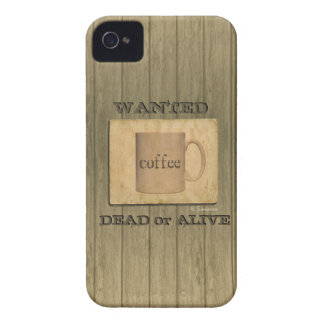 Rustic Wanted Dead or Alive - Coffee iPhone 4 Cover