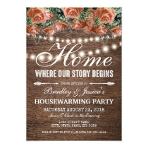 Rustic Warm New Home Housewarming Party Card