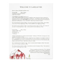 Rustic Watercolor Barn Wedding Welcome Bag Letter Letterhead