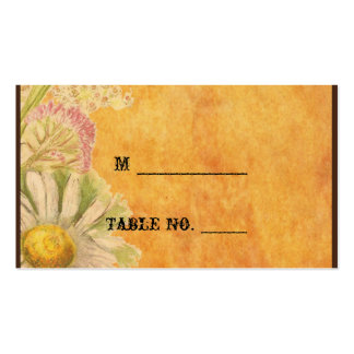 Rustic Watercolor Daisies Wedding Place Cards Business Card Templates