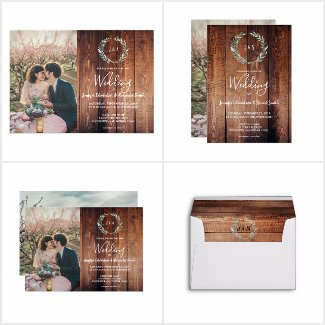 Rustic watercolor leaves Wedding collection