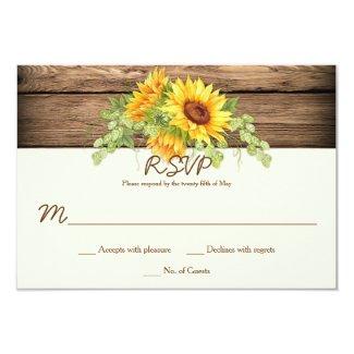 Rustic Sunflower RSVP Cards