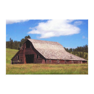 Rustic Weathered Barn Canvas