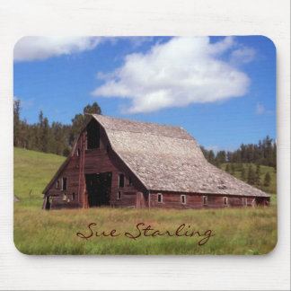 Rustic Weathered Barn Mouse Pad