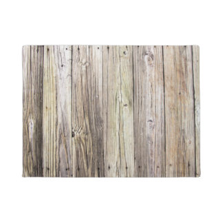 Rustic Weathered Boards with Natural Wood Grain Doormat