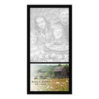 Rustic Weathered Country Wedding Save the Date Customized Photo Card