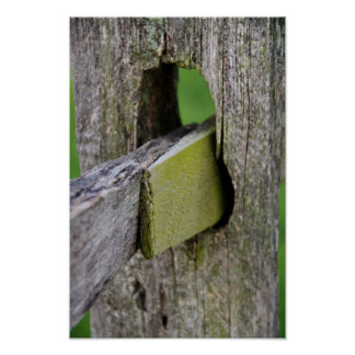Rustic Weathered Fence Post Poster