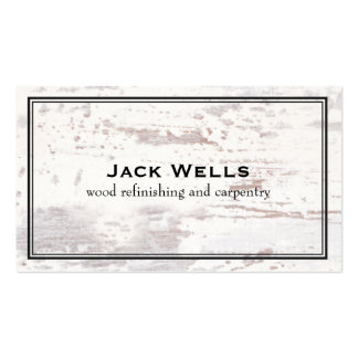 Rustic Weathered White Wood Country and Nature Business Card