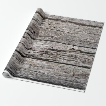Beach Themed Rustic weathered wood beach panels wrapping paper