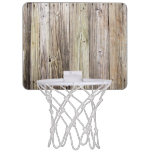 Rustic Weathered Wood Boards from Old Dock Mini Basketball Hoop
