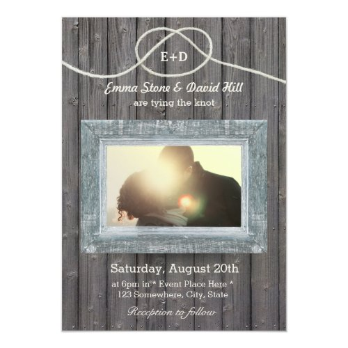 Perfect Invitation For Wedding Weddings Rustic Country Tying The Knot Barn Wood Photo Vintage Weathered Party