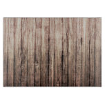 Rustic weathered wood grain print cutting board