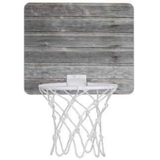 Rustic Weathered Wood Wall Mini Basketball Hoop