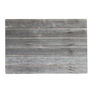 Rustic Weathered Wood Wall Placemat