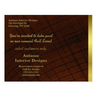 Rustic Weave Custom Business Promo 2016 Calendar Postcard