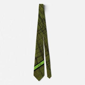 Rustic Weave Lime Green Custom Monogrammed Tie