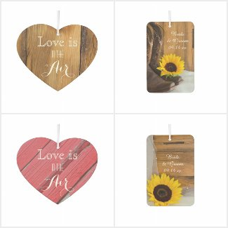 Rustic Wedding Air Freshener Party Favors