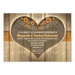 rustic wedding anniversary invitations