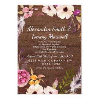 Rustic Wedding Boho Invitation