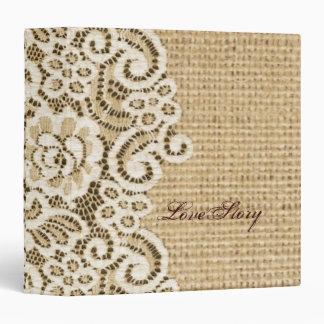 rustic wedding burlap lace country wedding vinyl binders