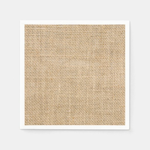 Rustic Wedding Burlap Trendy Country Wedding Standard Cocktail Napkin