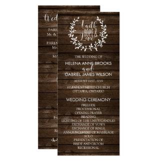 Rustic Wedding Ceremony Program