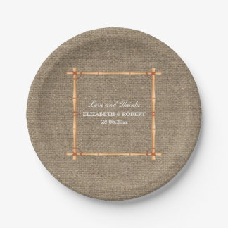 Rustic Wedding Country Backyard Burlap Paper Plate